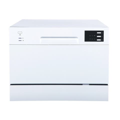 Energy Star Countertop Dishwasher with Delay Start & LED, White