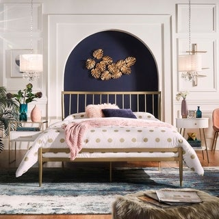 Parkcrest Gold Finish Metal Bed by iNSPIRE Q Bold