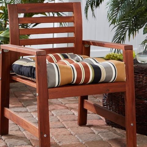 Brick Stripe 20-inch Outdoor Dining Seat Cushion