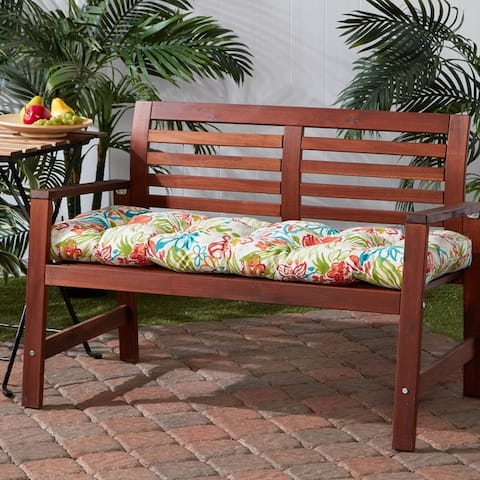 Breeze Floral 18-inch x 51-inch Outdoor Bench Cushion