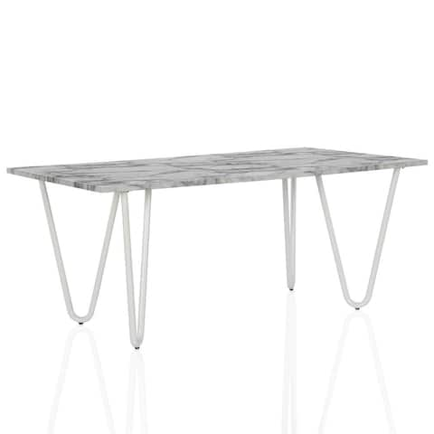 CosmoLiving by Cosmopolitan Mulberry Faux Marble Dining Table