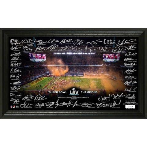 Kansas City Chiefs Super Bowl 54 Champions Signature Grid