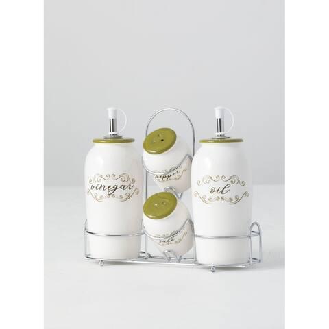 Herb, Oil, Vinegar, Salt & Pepper Shakers