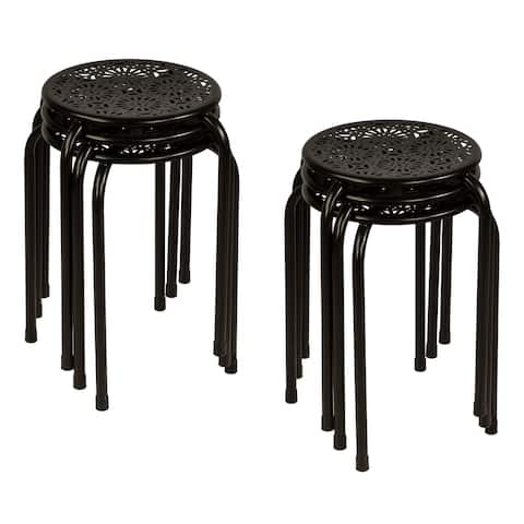 Atlantic Daisy Stackable Stool (6-Pack)