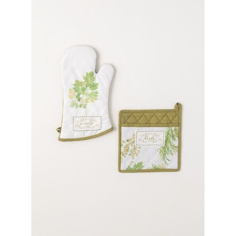 Herb Oven Mitt Holder - Set of 2