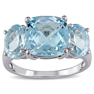 Miadora Sterling Silver Sky Blue Topaz Ring