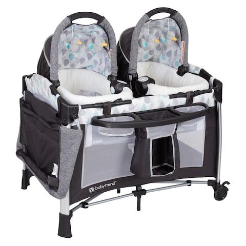 Baby Trend Go-Lite Twins Nursery Center,Drip Drop Blue