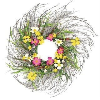 "Link to 24"" Boho cosmos and wildflower wreath Similar Items in Decorative Accessories"