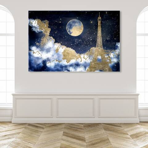 Oliver Gal Nature and Landscape Wall Art Canvas Prints 'Favorite City Sky' Skyscapes - Blue, Gold