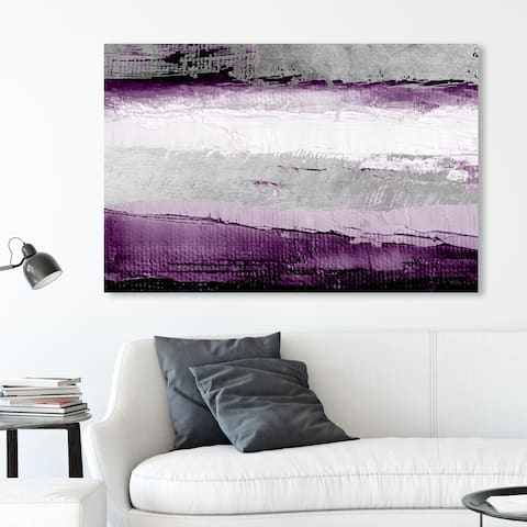 Oliver Gal Abstract Wall Art Canvas Prints 'Envision and Elevate Violet' Paint - Purple, Gray