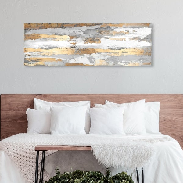 Oliver Gal Abstract Wall Art Canvas Prints 'Spirit of Gold' Paint - Gold, Gray. Opens flyout.