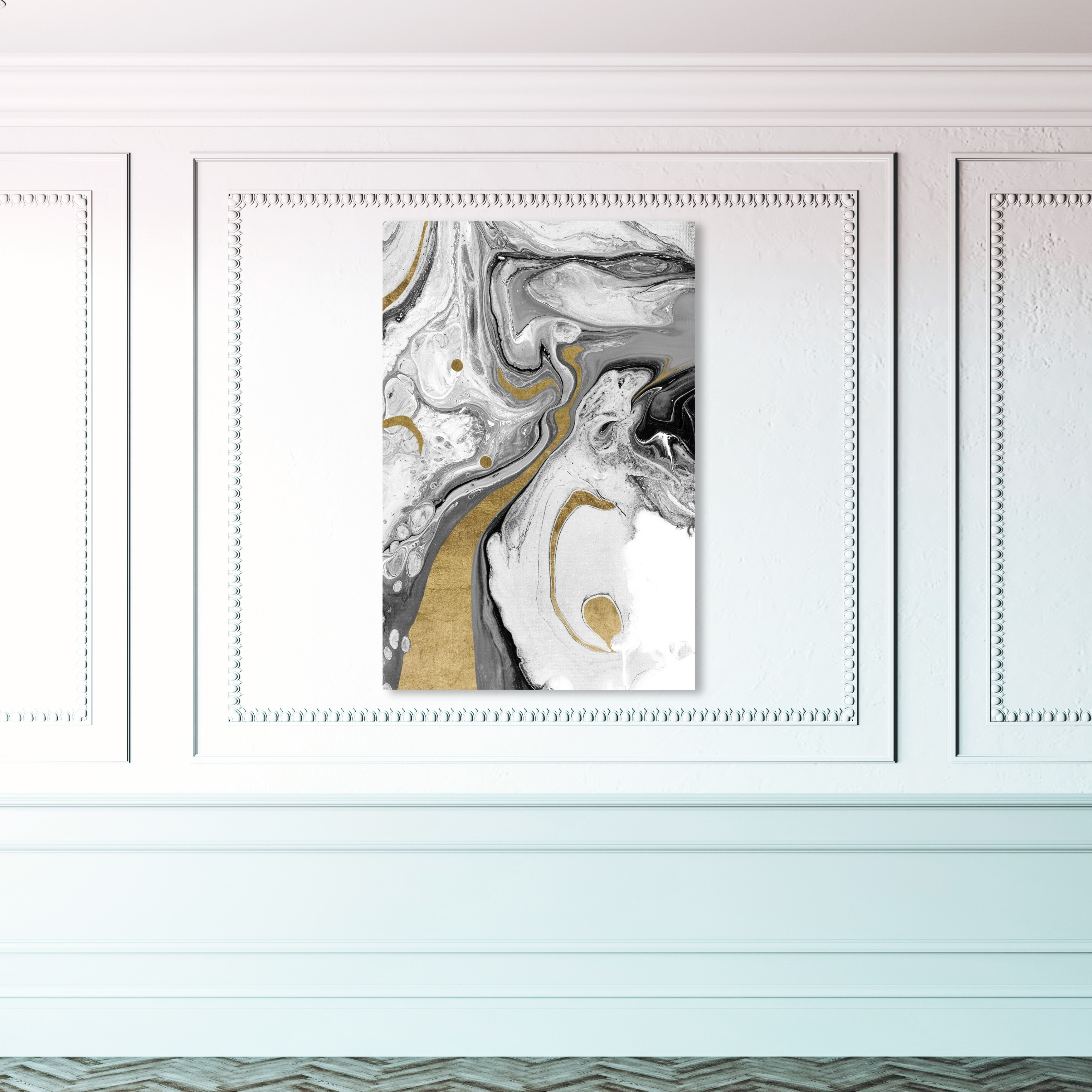 WATER DRAGON ABSTRACT DESIGN CANVAS WALL ART PRINT PICTURE READY TO HANG