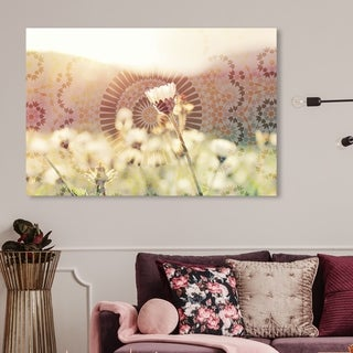Link to Oliver Gal Abstract Wall Art Canvas Prints 'Mandalas in The Morning' Patterns - White, Pink (As Is Item) Similar Items in As Is