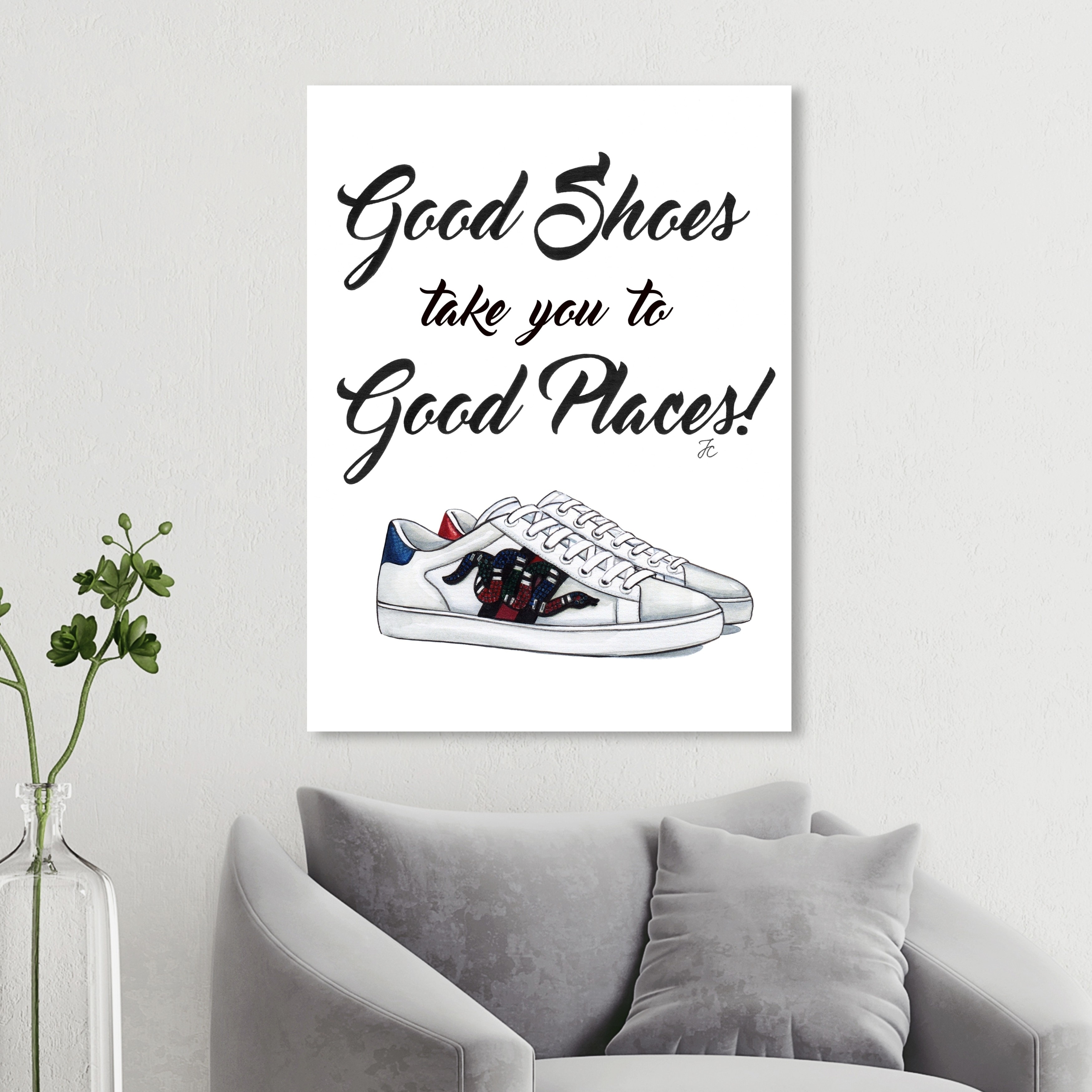 Oliver Gal Fashion And Glam Wall Art Canvas Prints Doll Memories Good Shoes Shoes White Red Overstock 30765839