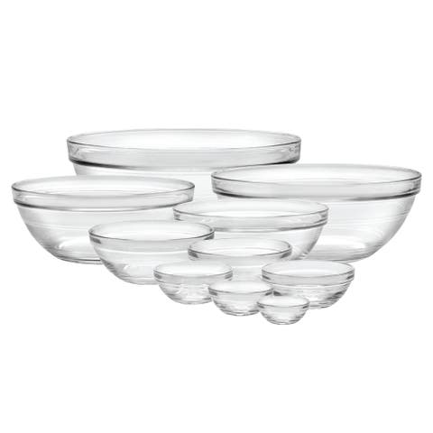 Duralex Lys Stackable Glass 10-Piece Bowl Set