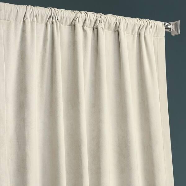 Exclusive Fabrics Plush Velvet Hotel Blackout Curtain On Sale Overstock 30766486