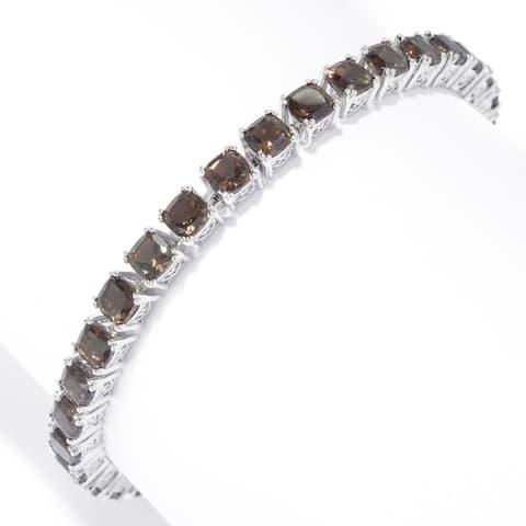 925 Sterling Silver Smoky Quartz Bracelet