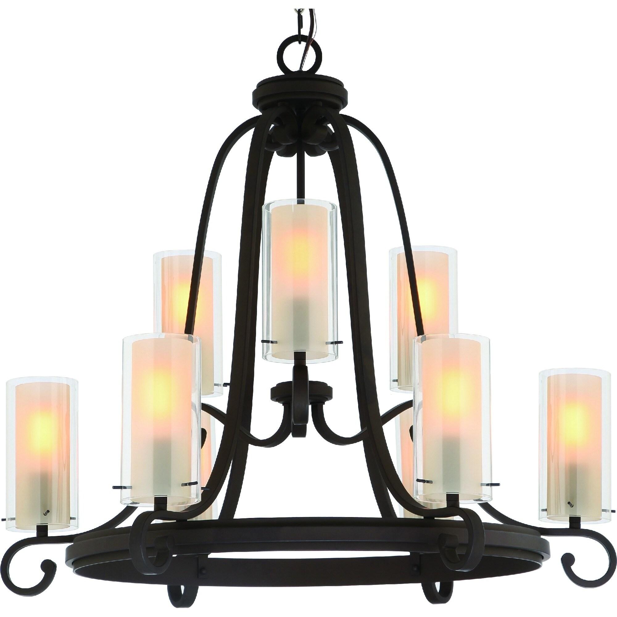 Regina 9 Light Indoor Antique Bronze Chandelier Overstock 30766645