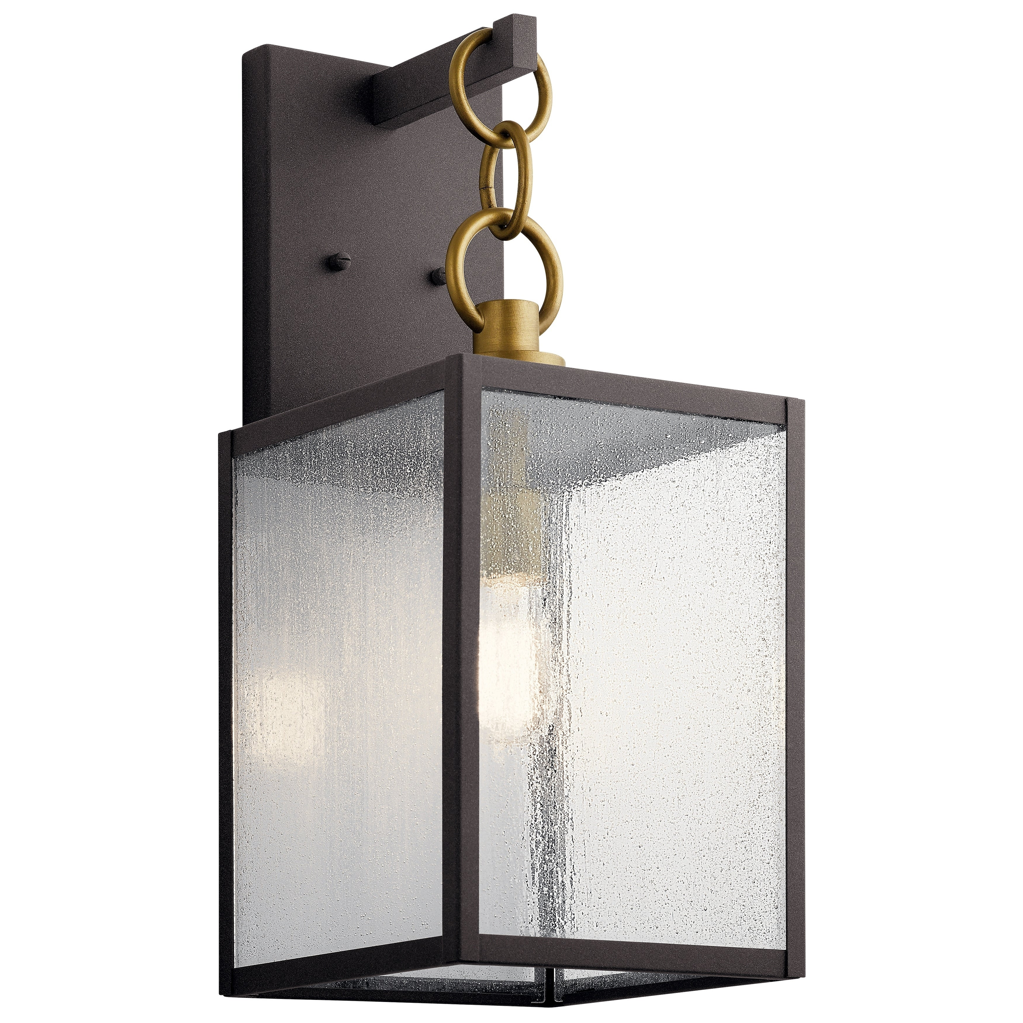 Kichler Old Bronze And Clear Water Glass Exterior Wall Light