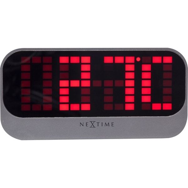 Unek Goods NeXtime Loud Alarm Table Top Alarm Clock, 12 and 24 Hour Mode, LED, ABS, Red, USB Connection