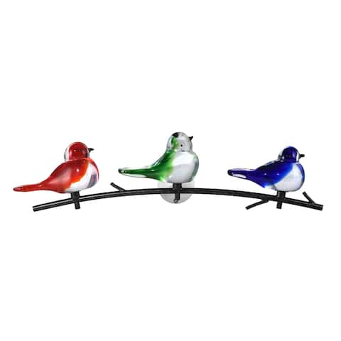 Birds Of Oahu Handcrafted Art Glass Wall Art Décor