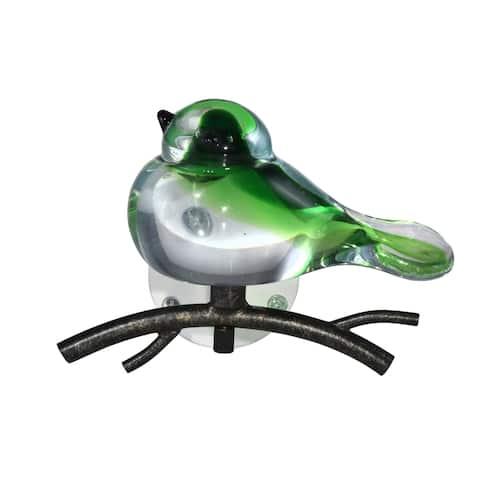 Green Bird Handcrafted Art Glass Wall Art Décor