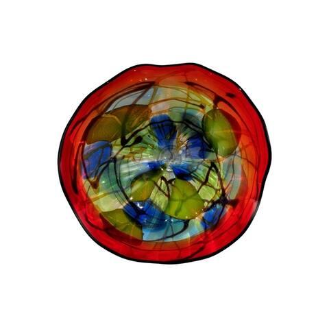 Hankley 9 Hand Blown Art Glass Wall Art Decor