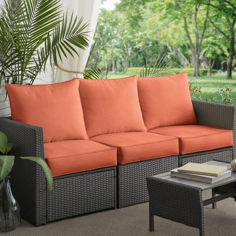 Coral Deep Seating Corded Sofa Pillow and Cushion Set by Havenside Home