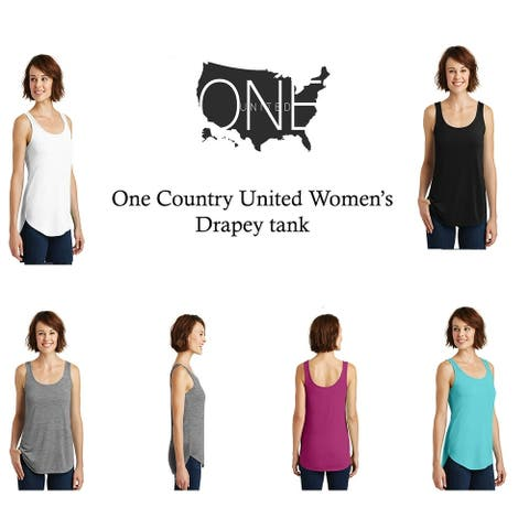 One Country United Women's Drapey Tank