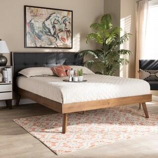 Alke Mid-Century Modern Upholstered Platform Bed