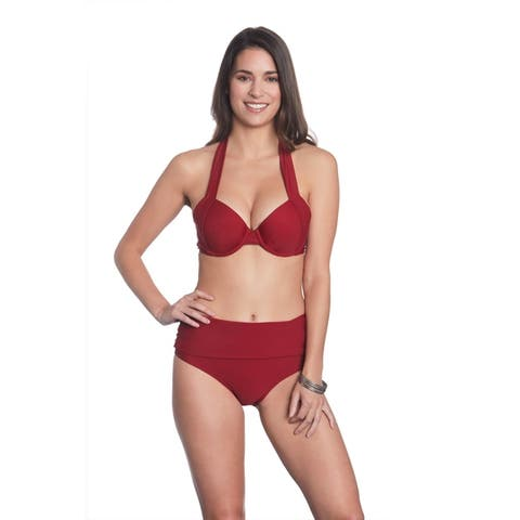 Betty's Beach Bungalow Halter Bikini Top and Foldover Bottom Set