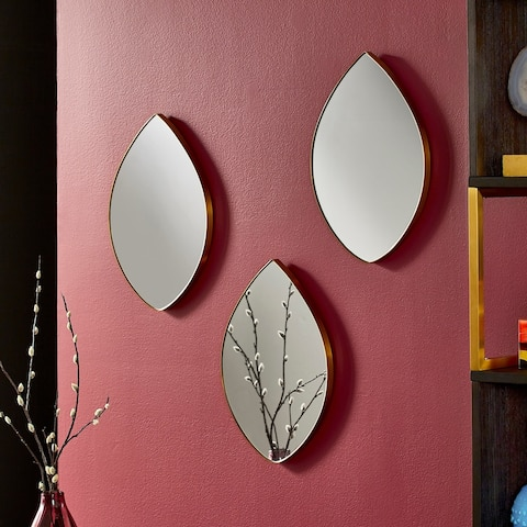 Ferdinand 3-Piece Tear Drop Wall Mirror by iNSPIRE Q Bold