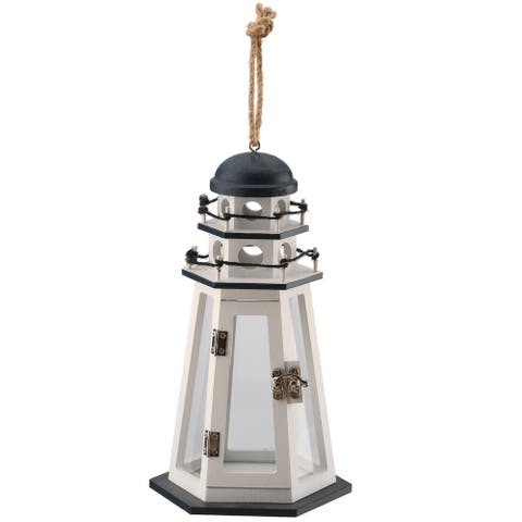 "10"" Lighthouse Candleholder"