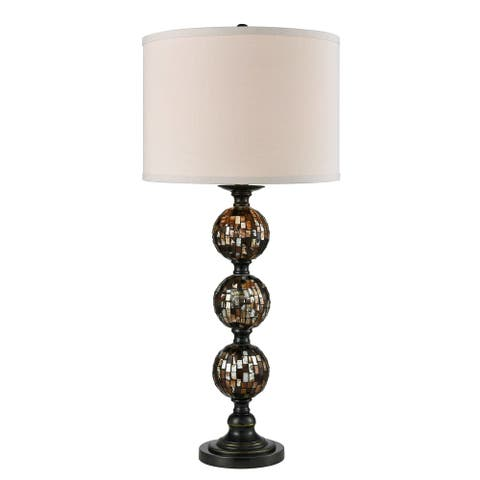 Cottonwood 3 Ball Mosaic Art Glass Marble Table Lamp