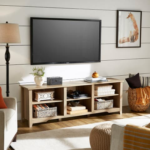 Sheldon Oak Finish 70-inch TV Stand by iNSPIRE Q Classic
