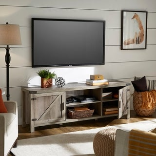 Sheldon Grey Wash Finish TV Stand by iNSPIRE Q Classic