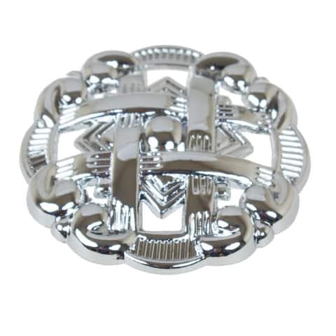 "GlideRite 5-Pack 1-3/8"" Polished Chrome Celtic Medallion Cabinet Knobs - Polished Chrome"