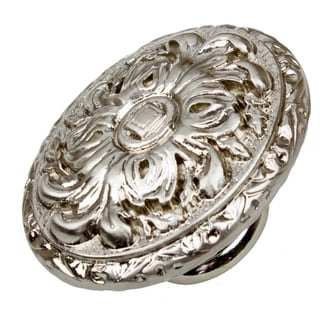 Link to GlideRite 5-Pack 2 in. Satin Nickel Ornate Oval Cabinet Knobs - Satin Nickel Similar Items in Hardware