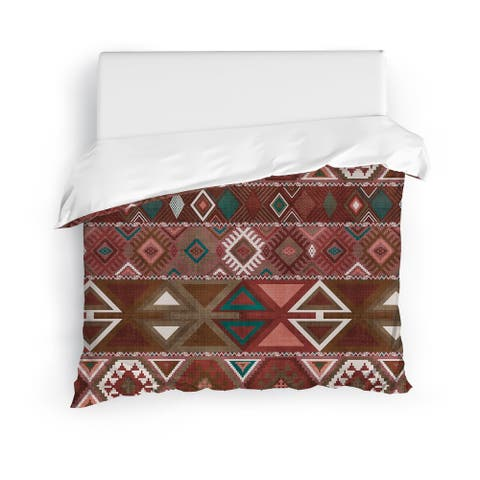 AZTEC TRIBAL SIENNA Duvet Cover By Kavka Designs