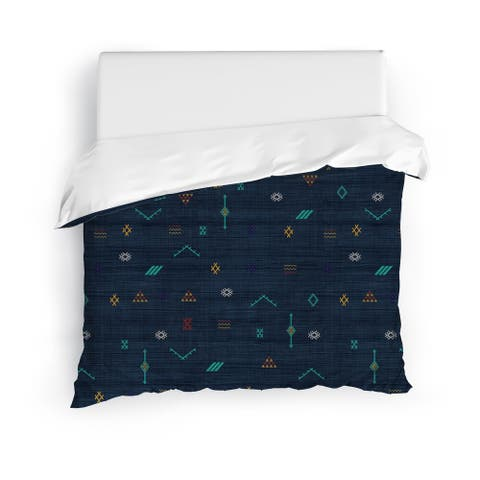 CACTUS SOFT NAVY Duvet Cover By Kavka Designs