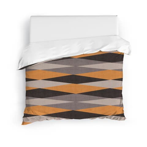 HARAR ORANGE Duvet Cover By Kavka Designs
