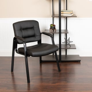 Flash Fundamentals Black LeatherSoft Executive Reception Chair - Guest Chair