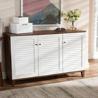 Coolidge Modern and Contemporary 8-Shelf Shoe Cabinet