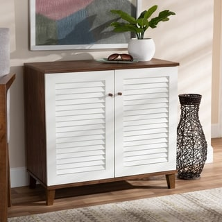 Coolidge Modern and Contemporary 4-Shelf Shoe Storage Cabinet