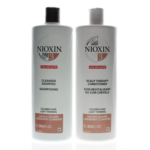 Nioxin System 3 Cleanser + Scalp Therapy 33.8oz/1Liter DUO (NEW PACKAGING)