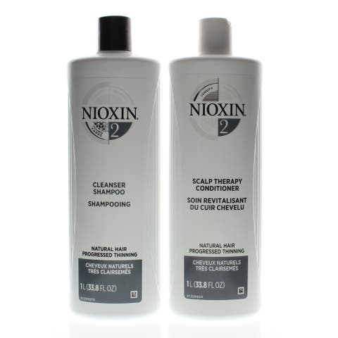 Nioxin System 2 Cleanser + Scalp Therapy 33.8oz/1Liter DUO (NEW PACKAGING)