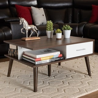 Carson Carrington Aitken Mid-century Modern 2-drawer Coffee Table