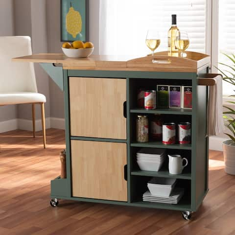 Dorthy Coastal and Farmhouse Kitchen Storage Cart