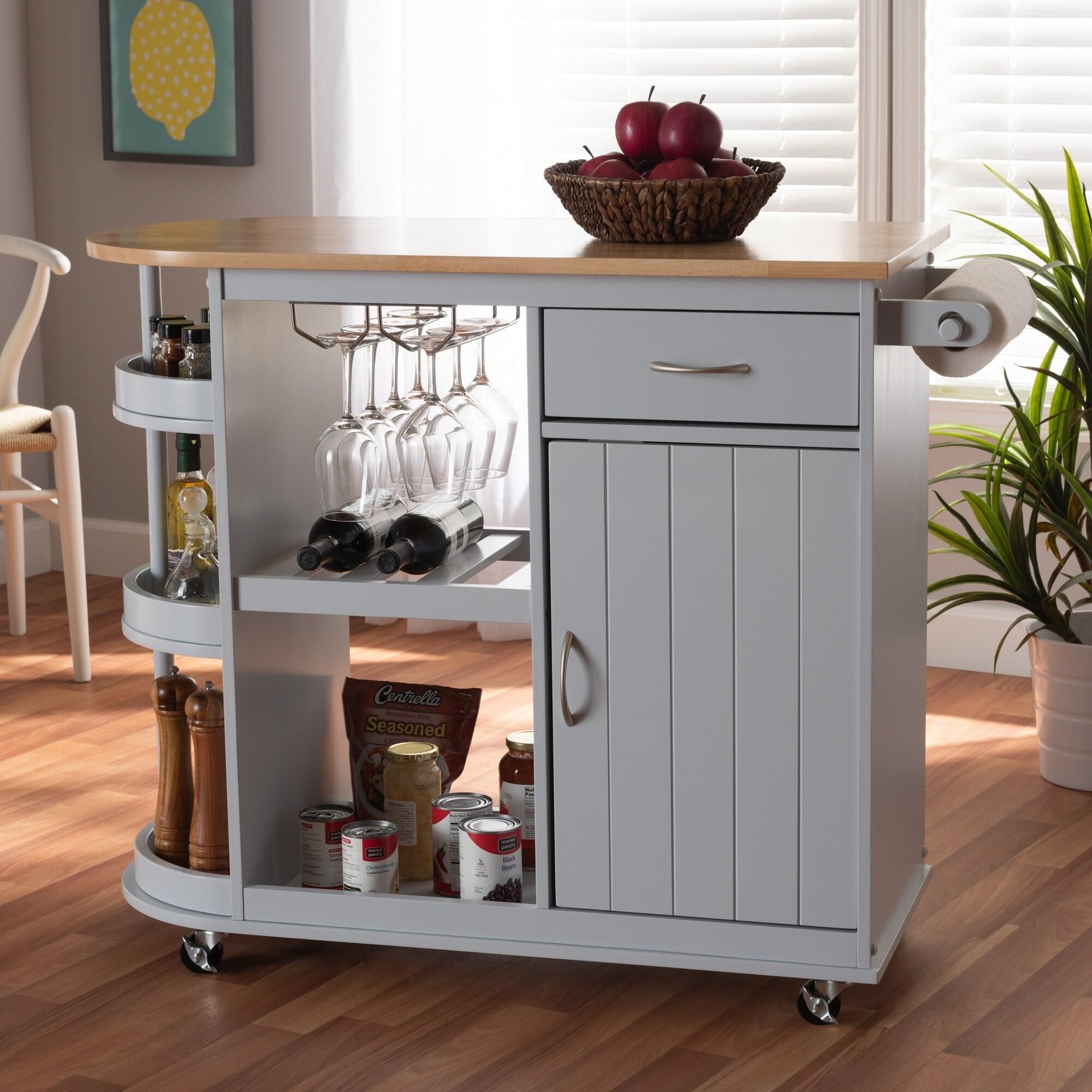 Farmhouse Kitchen Storage Cart
