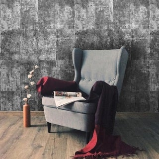 Link to Wallpaper gray silver metallic modern rustic faux stone concrete Similar Items in Wall Coverings